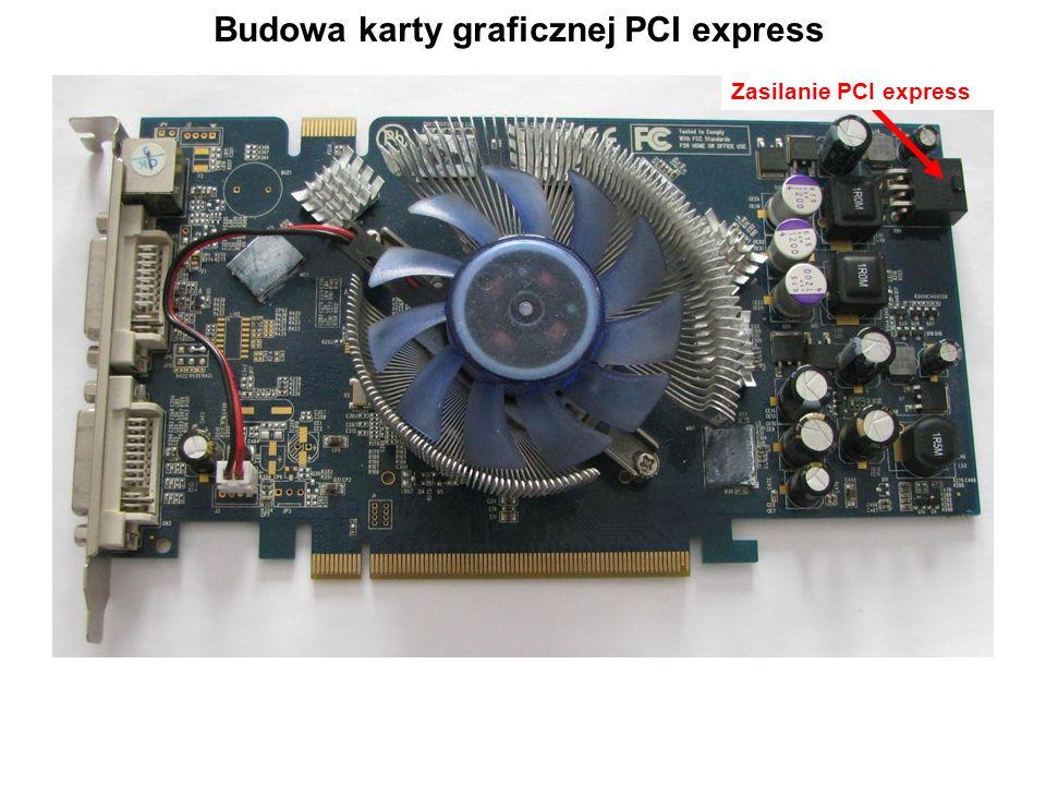 Budowa karty graficznej PCI express Zasilanie PCI express