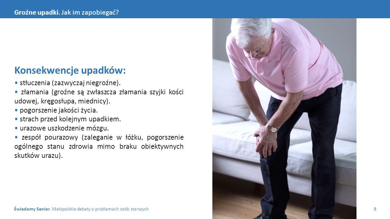 Świadomy Senior. Małopolskie debaty o problemach osób starszych8 Groźne upadki.