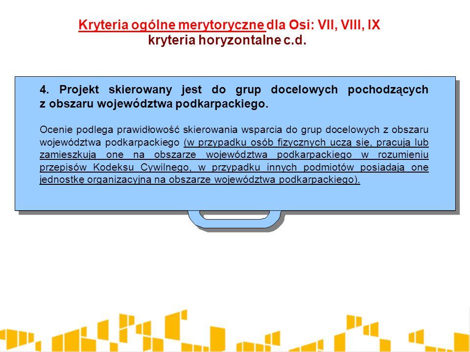 4. Projekt skierowany jest do grup docelowych pochodzących z obszaru województwa podkarpackiego.