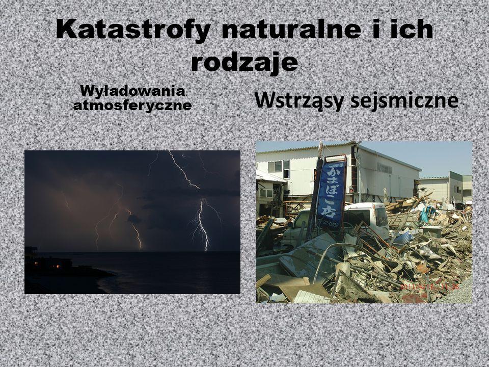 Katastrofy naturalne i ich rodzaje Wyładowania atmosferyczne Wstrząsy sejsmiczne