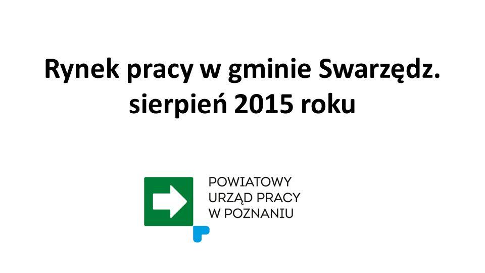 Rynek pracy w gminie Swarzędz. sierpień 2015 roku