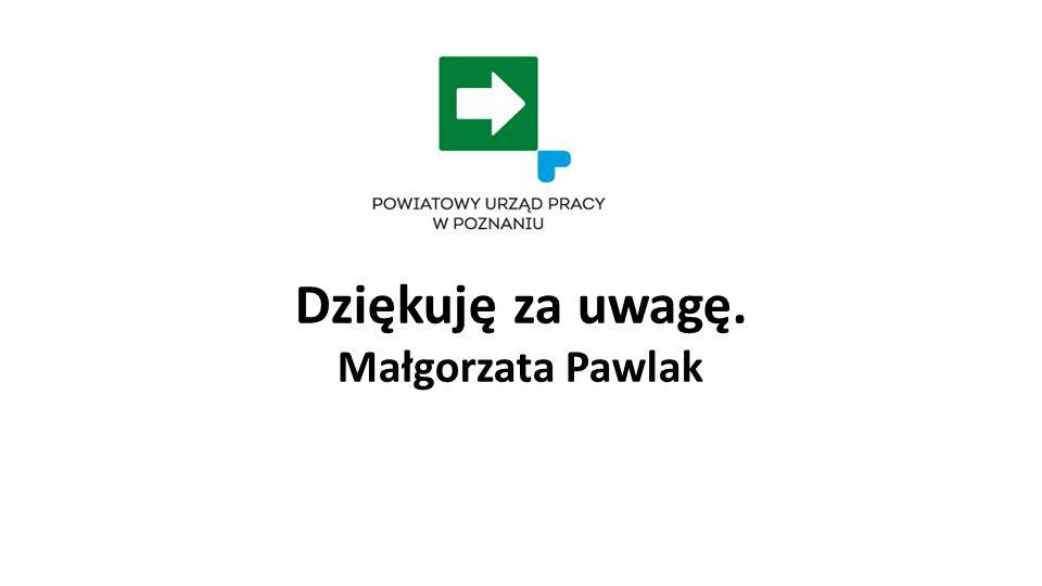 Dziękuję za uwagę. Małgorzata Pawlak