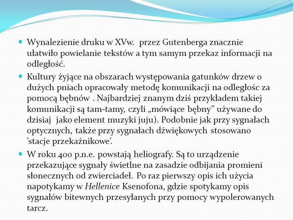 Wynalezienie druku w XVw.