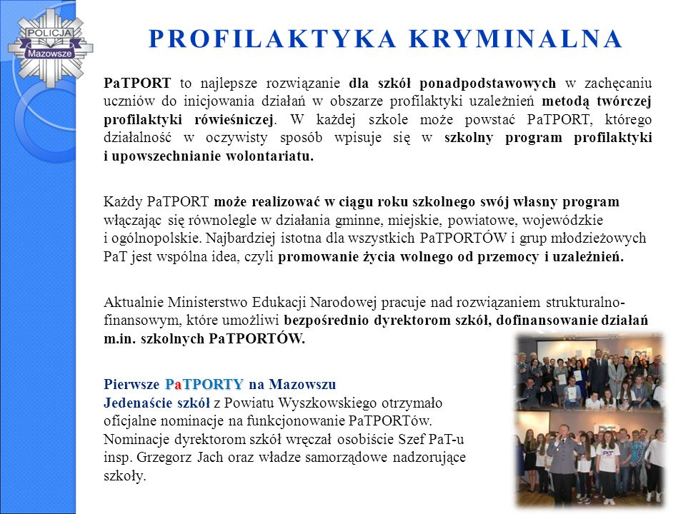 PROFILAKTYKA KRYMINALNA Pakiet profilaktyczno - edukacyjny w skład którego wchodzi pięć filmów wraz ze scenariuszami zajęć.
