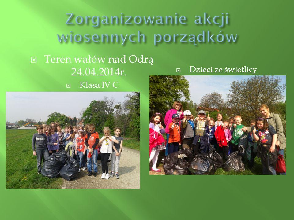  Teren wałów nad Odrą 24.04.2014r.  Klasa IV C  Dzieci ze świetlicy