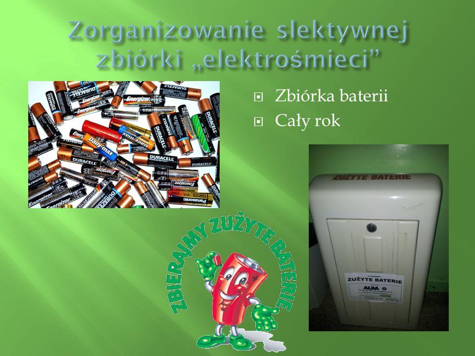  Zbiórka baterii  Cały rok