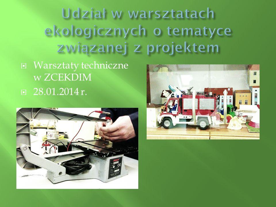  Wyjście do Humanitarium Zajęcia edukacyjne: ,, Drugie życie tektury .  12.2014r.