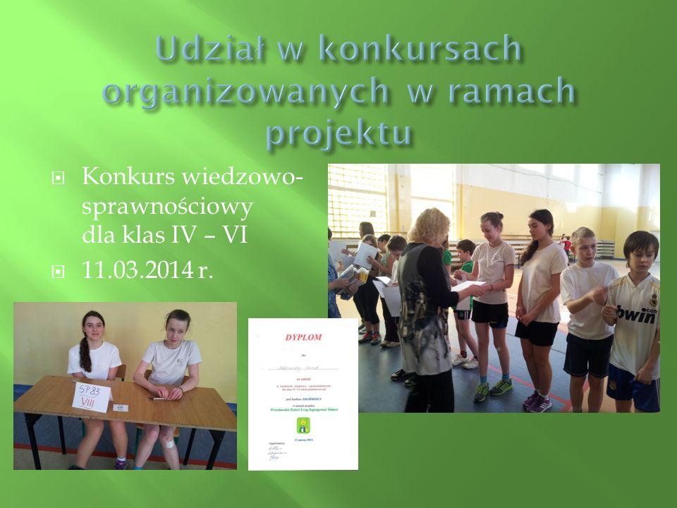  Konkurs plastyczny na plakat i hasło ekologiczne.  31.03.2014r.