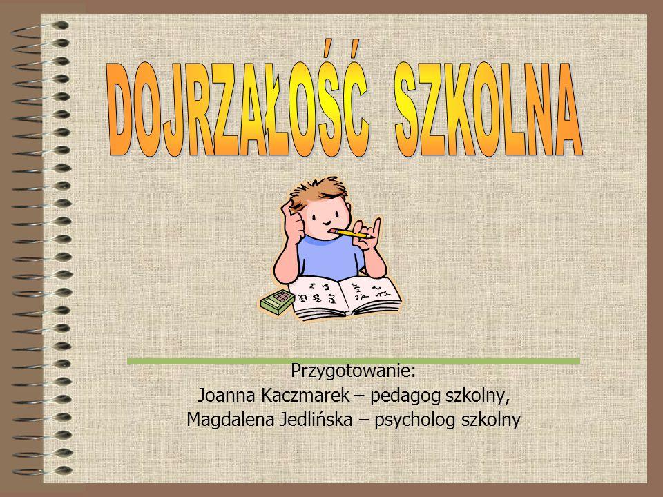 Przygotowanie: Joanna Kaczmarek – pedagog szkolny, Magdalena Jedlińska – psycholog szkolny