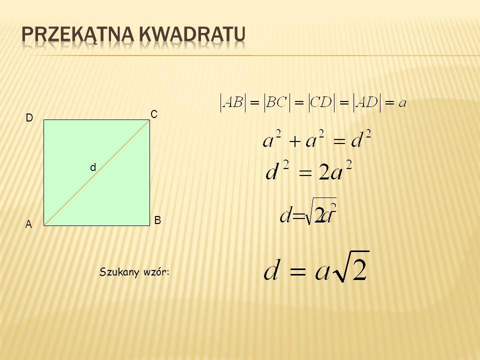 A B C D h Wysokość trójkąta: