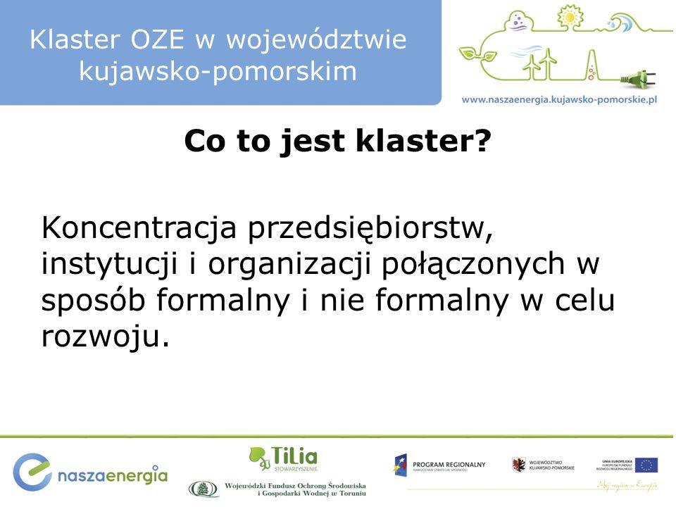Klaster OZE w województwie kujawsko-pomorskim Co to znaczy być Prosumentem.