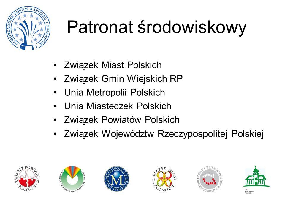 Patronat środowiskowy Związek Miast Polskich Związek Gmin Wiejskich RP Unia Metropolii Polskich Unia Miasteczek Polskich Związek Powiatów Polskich Zwi