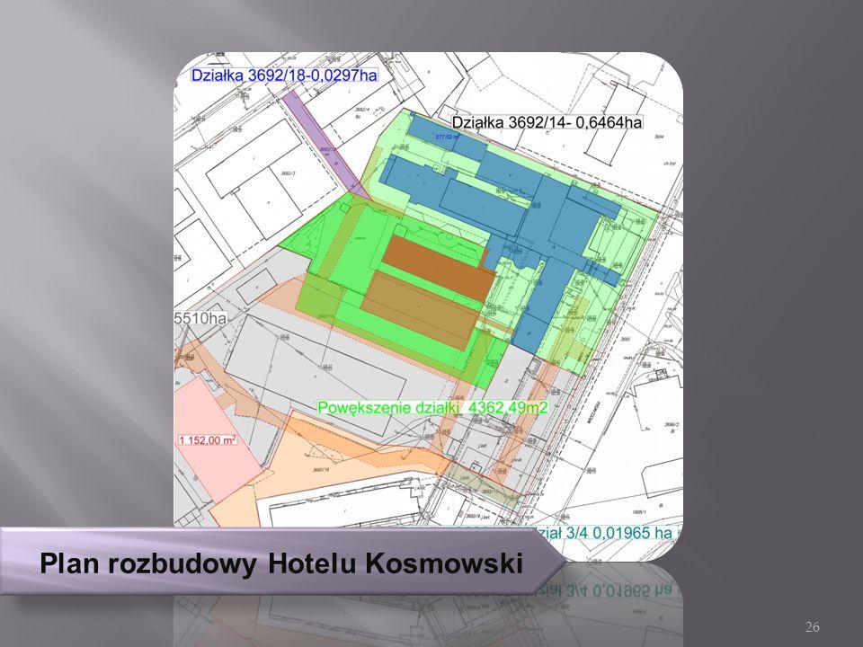 Plan rozbudowy Hotelu Kosmowski 26