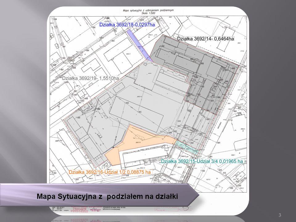 Mapa Sytuacyjna z podziałem na działki 3
