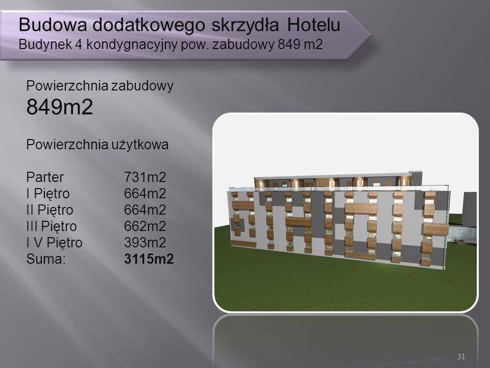 Budowa dodatkowego skrzydła Hotelu Budynek 4 kondygnacyjny pow.