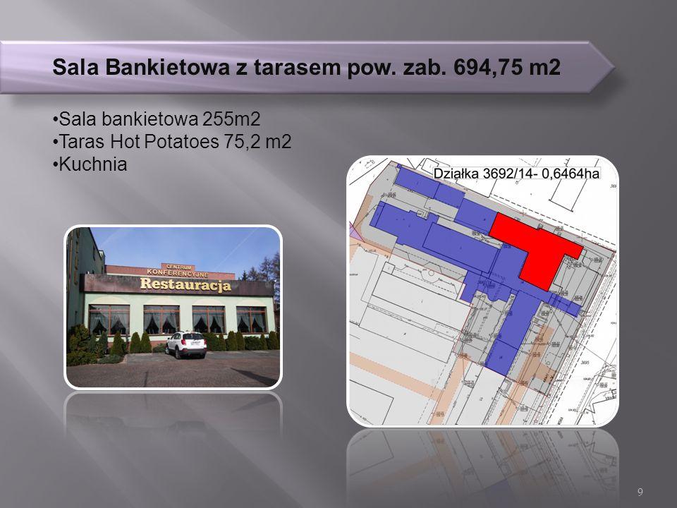 Sala Bankietowa z tarasem pow. zab.