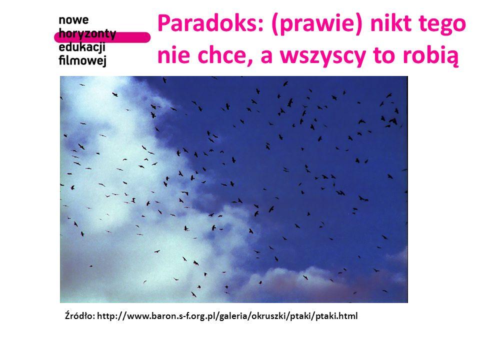 Paradoks: (prawie) nikt tego nie chce, a wszyscy to robią Źródło: http://www.baron.s-f.org.pl/galeria/okruszki/ptaki/ptaki.html