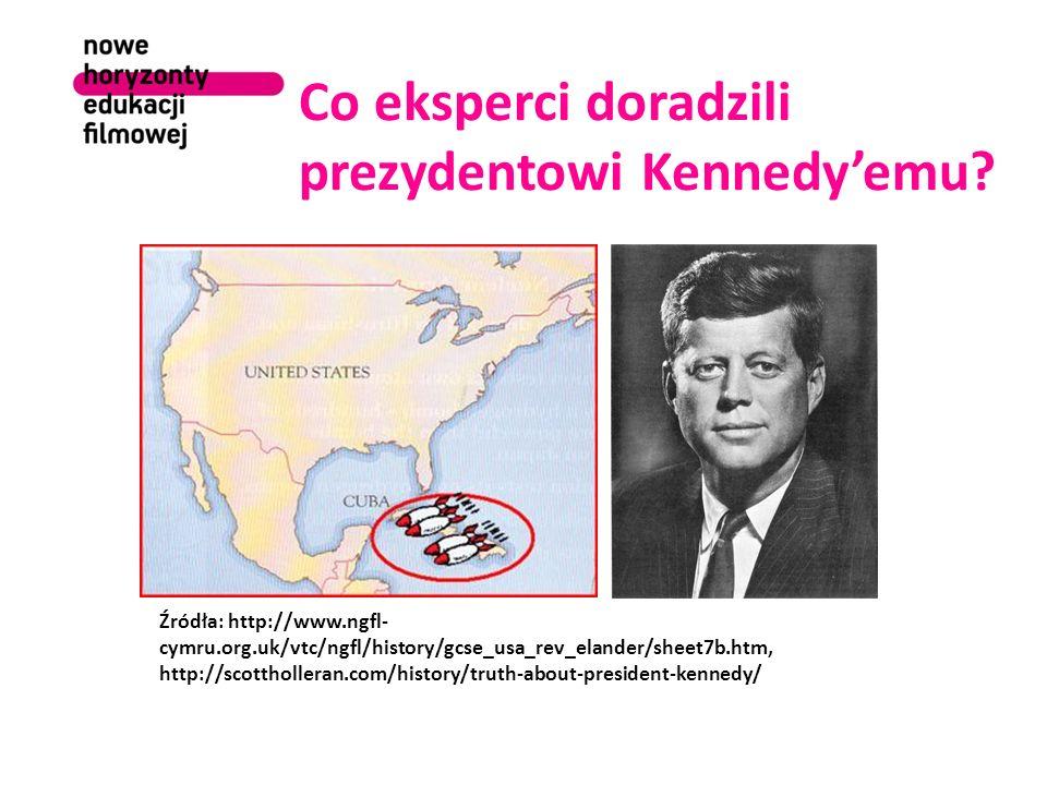 Co eksperci doradzili prezydentowi Kennedy'emu.