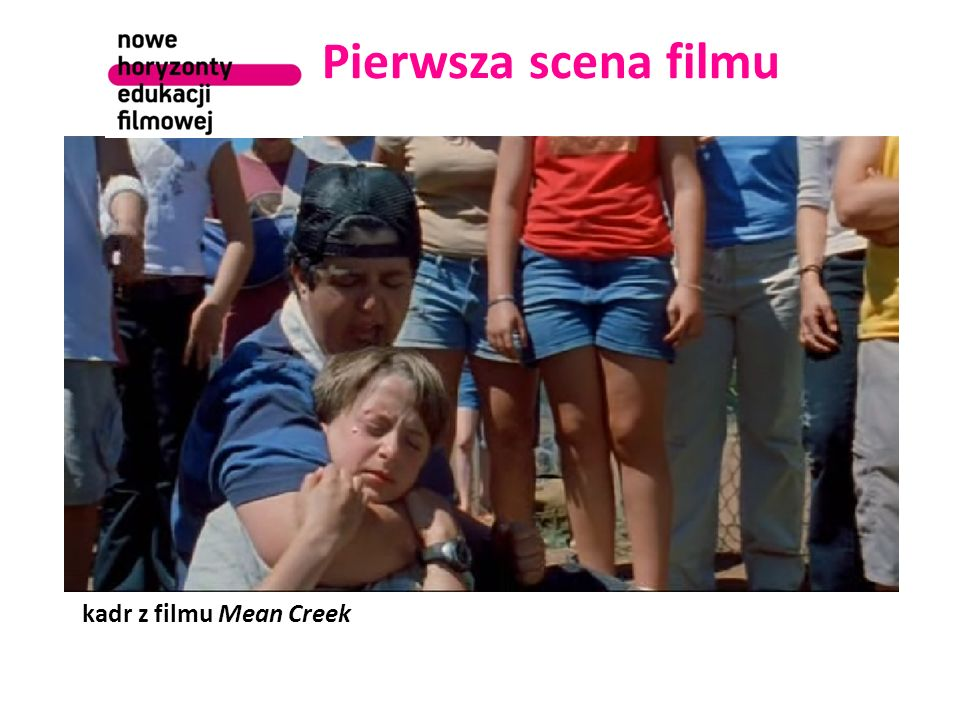 Pierwsza scena filmu kadr z filmu Mean Creek