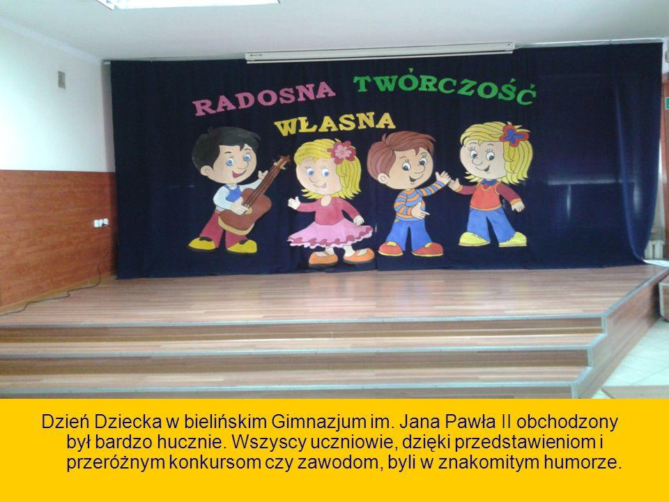 Informacje o obchodach Dnia Dziecka Dzień Dziecka w bielińskim Gimnazjum im.