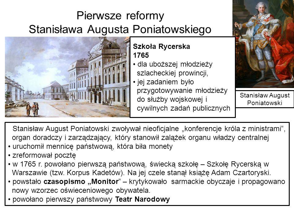 Mecenat Stanisława Augusta Obiady czwartkowe – co tygodniowe spotkania w Łazienkach, w pałacu na wodzie, które trwały przez 11 lat od 1771 r.