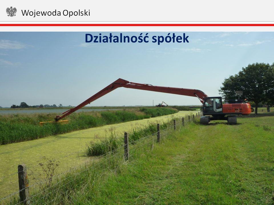 Powierzchnia użytków rolnych objętych działalnością 27 aktywnych spółek wodnych (150 000 ha) 14