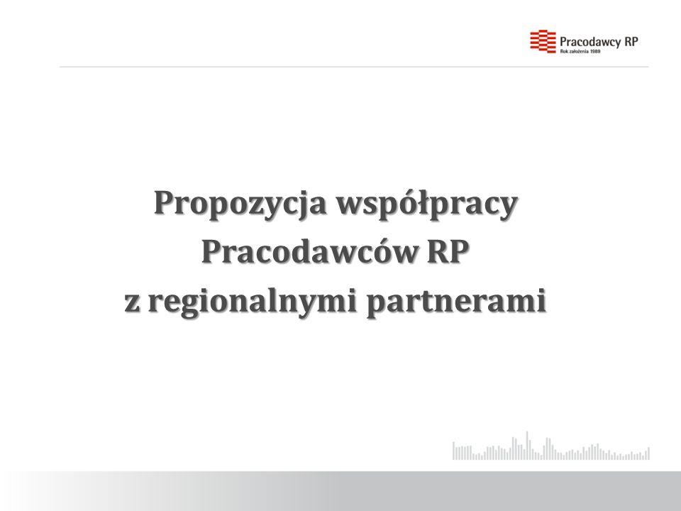 Propozycja współpracy Pracodawców RP z regionalnymi partnerami