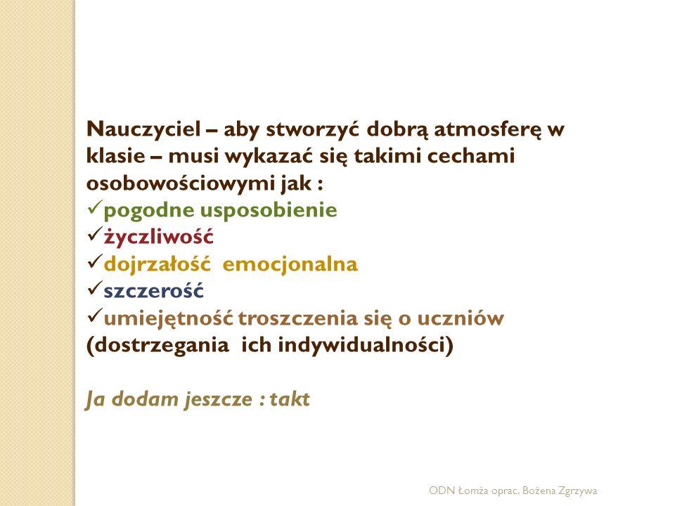ODN Łomża oprac.Bożena Zgrzywa Uwaga.