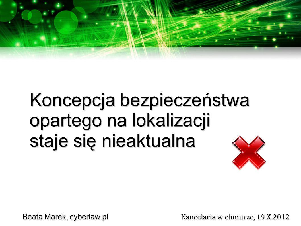 Beata Marek, cyberlaw.pl Kancelaria w chmurze, 19.X.2012 Beata Marek, cyberlaw.pl Kancelaria w chmurze, 19.X.2012