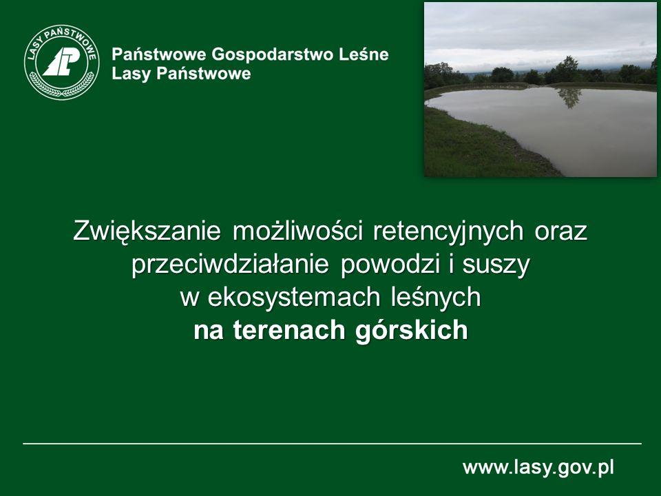 Zwiększanie możliwości retencyjnych oraz przeciwdziałanie powodzi i suszy w ekosystemach leśnych na terenach górskich
