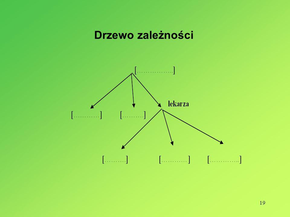 19 Drzewo zależności