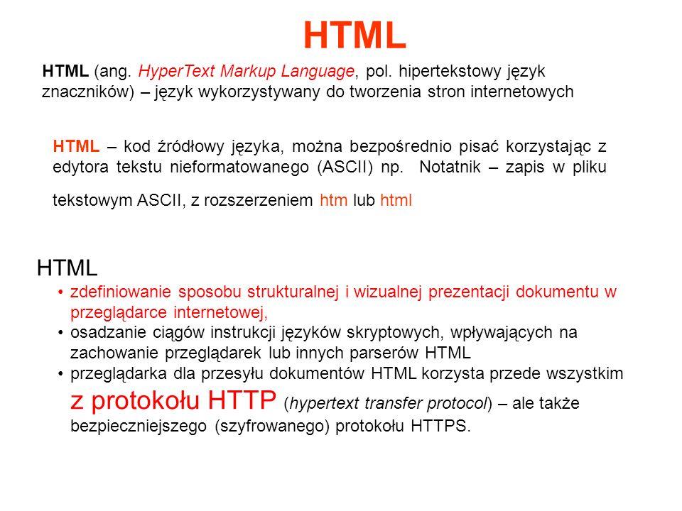 HTML (ang. HyperText Markup Language, pol.