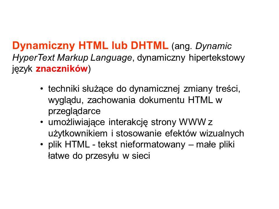 Tytuł w nagłówku okna Tu są elementy pojawiające się na stronie PODSTAWOWA STRUKTURA dokumentu HTML konfiguracja treść strony
