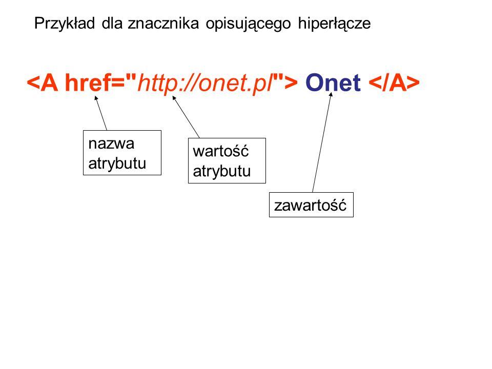 Plik style.css p {font-size: 44px;}.czerwony {background-color:#ff0000;} Plik index.html Indeks: elementy ; To jest tekst 1 AAA 3.