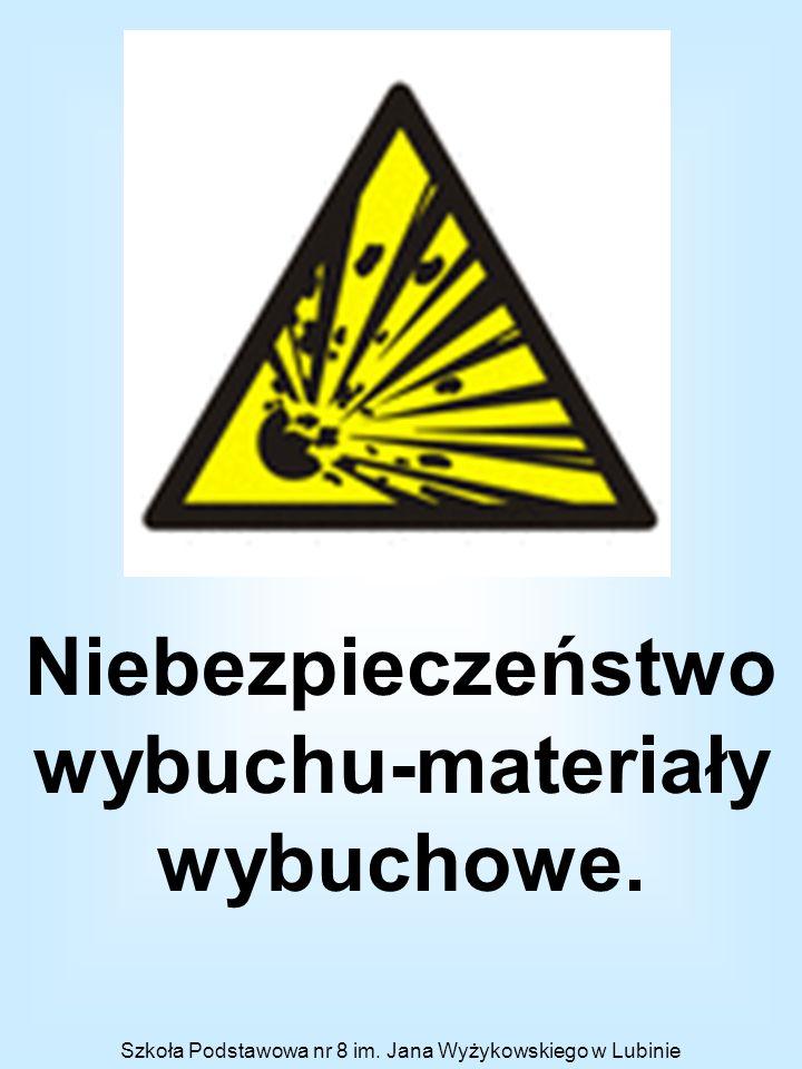 Niebezpieczeństwo wybuchu-materiały wybuchowe.