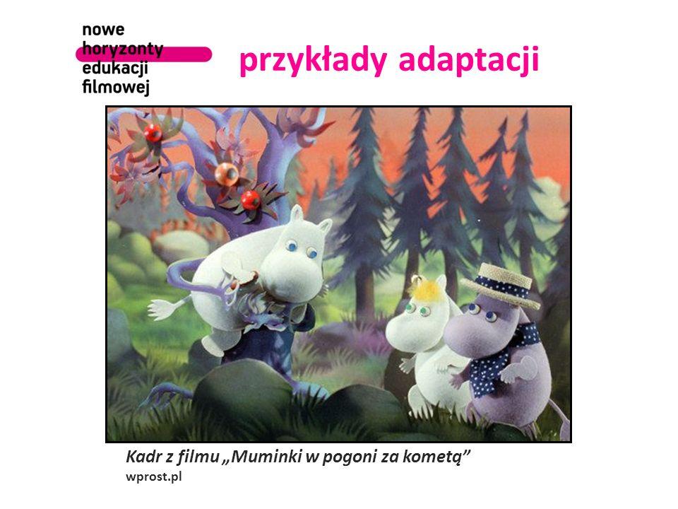"""przykłady adaptacji Kadr z filmu """"Muminki w pogoni za kometą wprost.pl"""