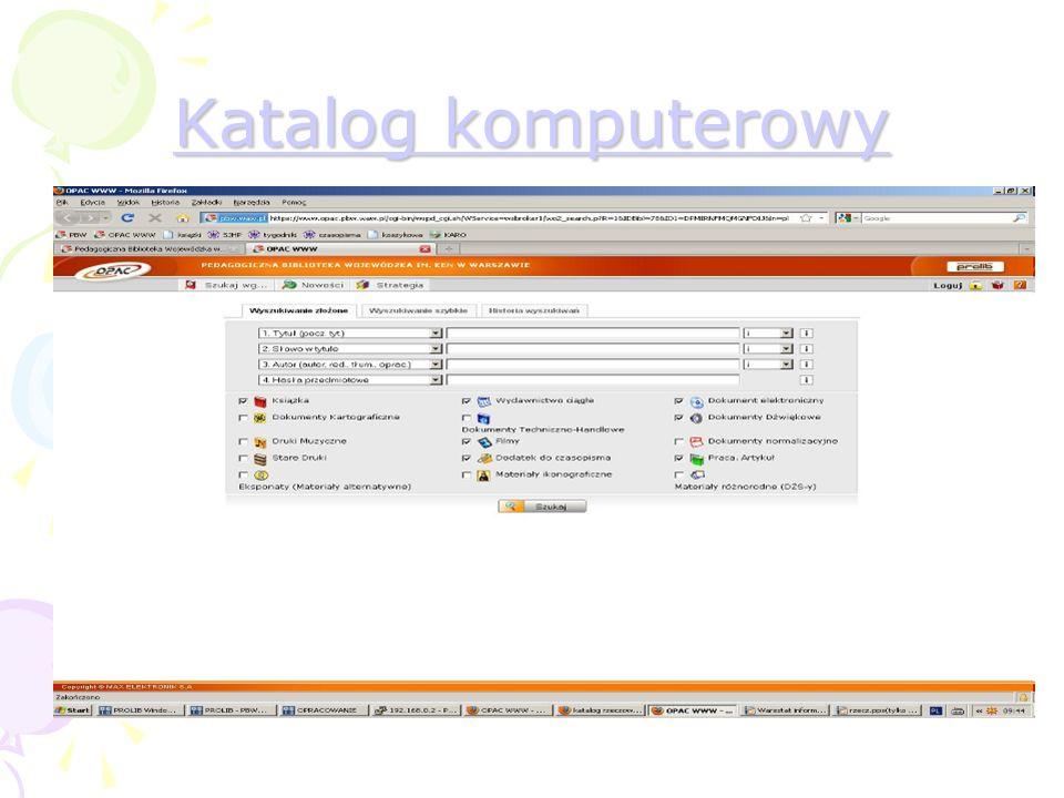 Katalog komputerowy Katalog komputerowy