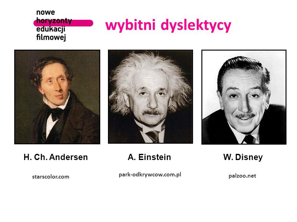 wybitni dyslektycy starscolor.com H. Ch. AndersenA.