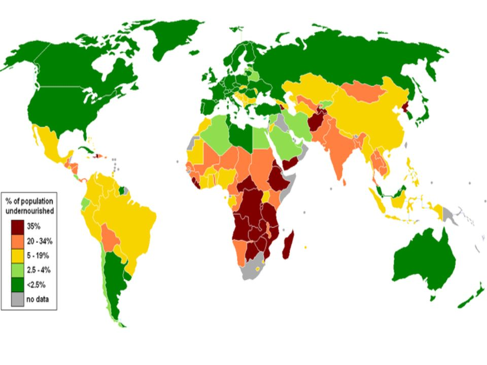 STATYSTYKI Co 3,6 sekundy na świecie ktoś umiera z głodu Co 3,6 sekundy na świecie ktoś umiera z głodu Według Światowej Organizacji Zdrowia (WHO), 1/3 ludności świata jest dobrze odżywiona, 1/3 jest niedożywiona, a 1/3 głoduje Według Światowej Organizacji Zdrowia (WHO), 1/3 ludności świata jest dobrze odżywiona, 1/3 jest niedożywiona, a 1/3 głoduje Aby pokryć niezaspokojone potrzeby świata w zakresie higieny i żywności, wystarczy 13 miliardów dolarów - tyle ludzie w USA i Unii Europejskiej wydają, co roku na perfumy Aby pokryć niezaspokojone potrzeby świata w zakresie higieny i żywności, wystarczy 13 miliardów dolarów - tyle ludzie w USA i Unii Europejskiej wydają, co roku na perfumy Co roku na świecie umiera z głodu 15 milionów dzieci Co roku na świecie umiera z głodu 15 milionów dzieci Niedożywienie powoduje 55 proc.