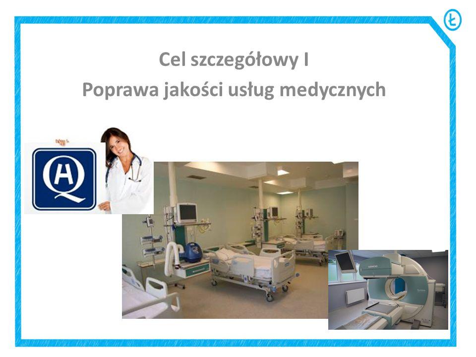 Cel szczegółowy I Poprawa jakości usług medycznych
