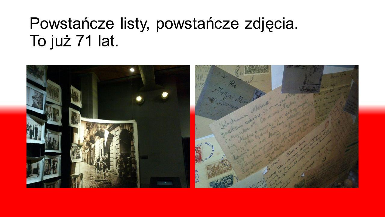 Powstańcze listy, powstańcze zdjęcia. To już 71 lat.