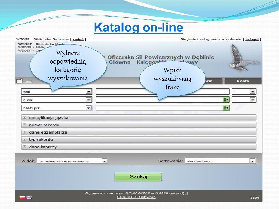Katalog on-line Wpisz wyszukiwaną frazę Wybierz odpowiednią kategorię wyszukiwania