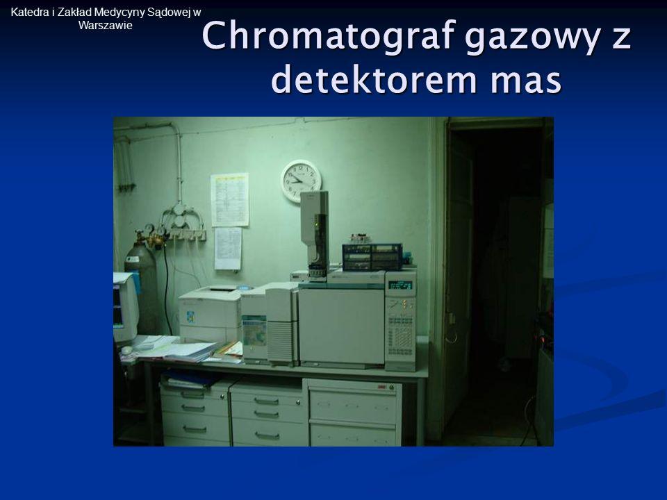 Katedra i Zakład Medycyny Sądowej w Warszawie Chromatograf gazowy z detektorem mas