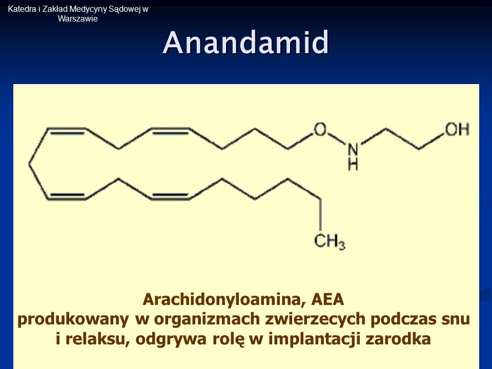 Katedra i Zakład Medycyny Sądowej w WarszawieAnandamid Arachidonyloamina, AEA produkowany w organizmach zwierzecych podczas snu i relaksu, odgrywa rol