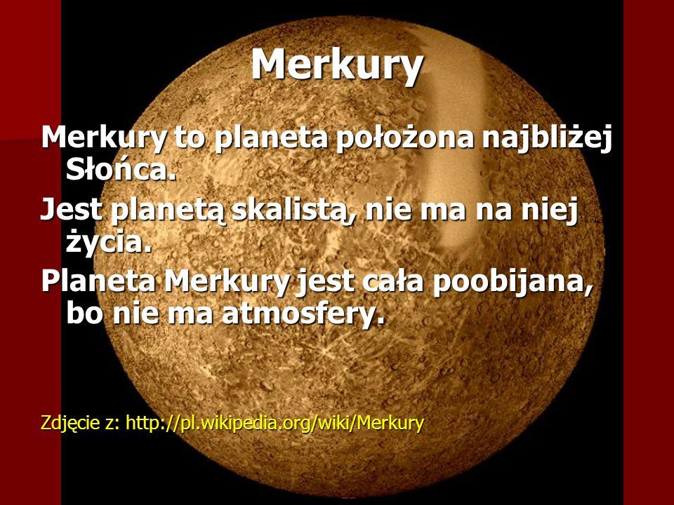 Wenus Na Wenus panuje bardzo wysokie ciśnienie.Na Wenus nie ma życia.
