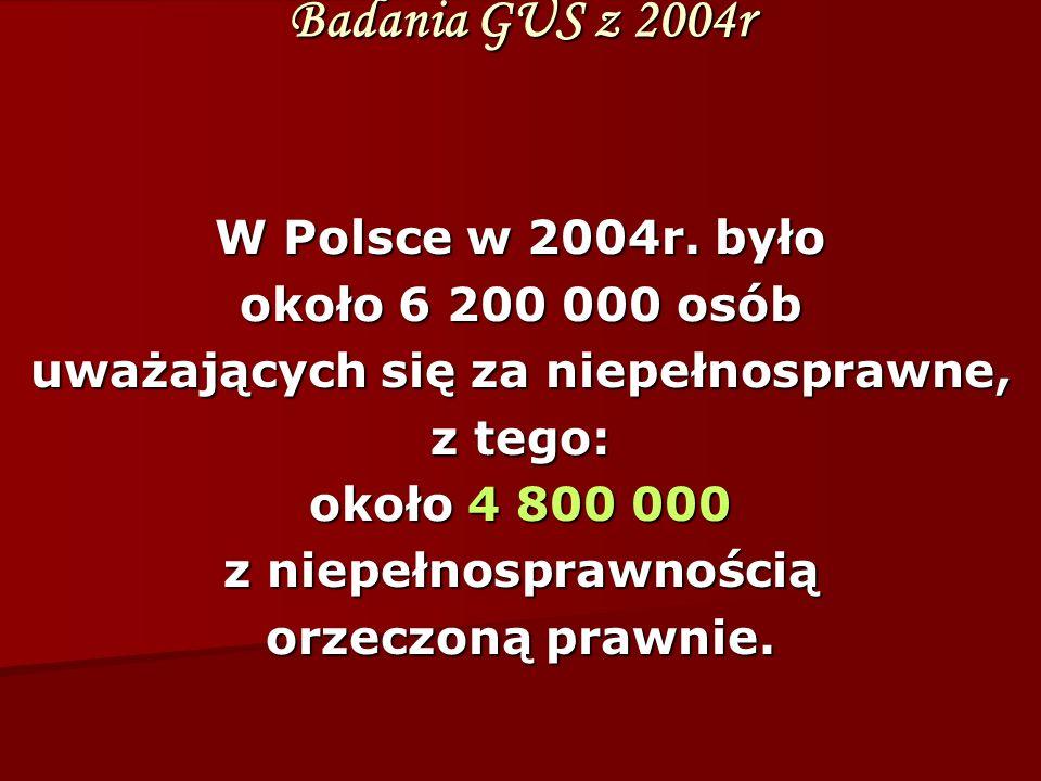 Badania GUS z 2004r W Polsce w 2004r.