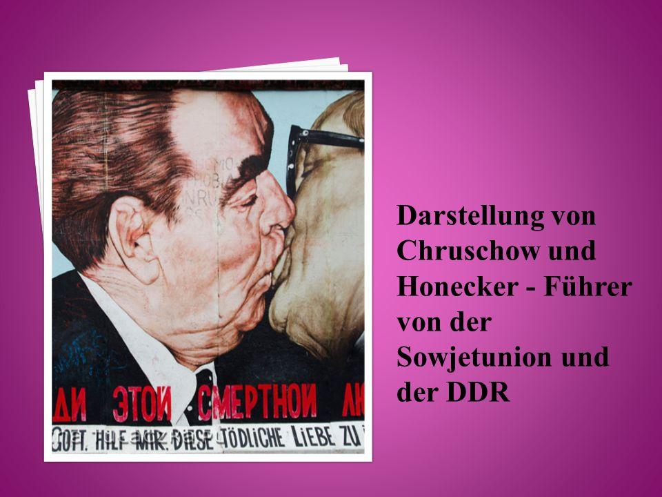 Darstellung von Chruschow und Honecker - Führer von der Sowjetunion und der DDR