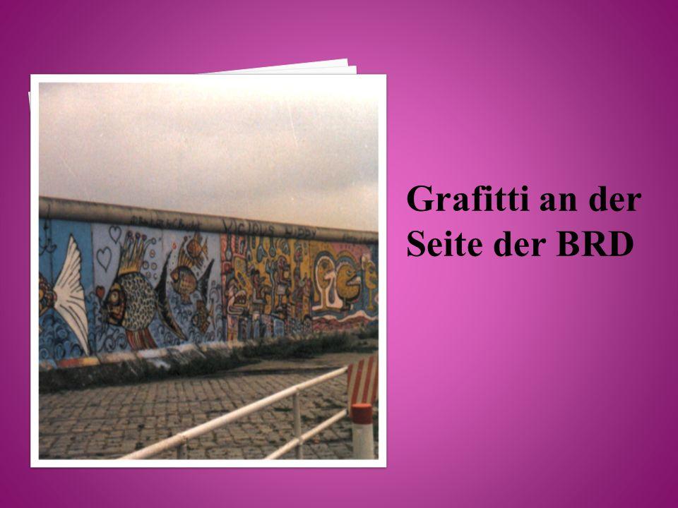 Grafitti an der Seite der BRD
