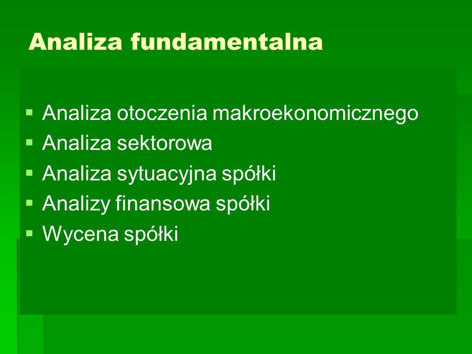 Analiza fundamentalna   Analiza otoczenia makroekonomicznego   Analiza sektorowa   Analiza sytuacyjna spółki   Analizy finansowa spółki   Wy