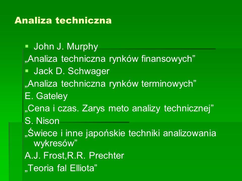 """Analiza techniczna   John J. Murphy """"Analiza techniczna rynków finansowych   Jack D."""